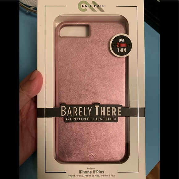 new product 31a8d 56041 Case-Mate Barely There Leather for Iphone 8 Plus NWT